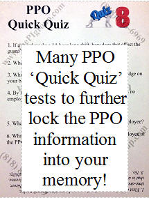 PPO license test sample questions